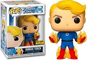 Funko Pop Marvel Fantastic Four (Quarteto Fantástico): Human Torch 569 Hot Topic Exclusive