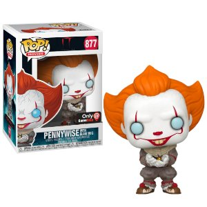 Funko Pop IT a coisa: Pennywise with glow bug #877 Gamestop Exclusive
