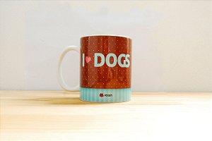 Caneca Porcelana - I Love Dogs