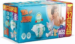 Fralda Descartável Infantil Tom E Jerry- XG 32 Unidades