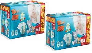 Fralda Descartável Infantil Tom E Jerry- M 80 Unidades