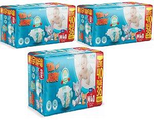 Fralda Descartável Infantil Tom E Jerry- M 120 Unidades
