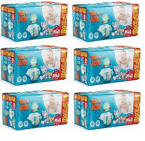 Fralda Descartável Infantil Tom E Jerry-M 240 Unidades