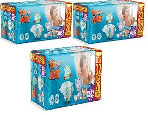 Fralda Descartável Infantil Tom E Jerry- XG 96 Unidades