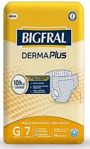 Fralda Geriatrica BigFral DERMA Plus G-7 unidades
