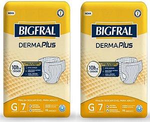 Fralda Geriatrica BigFral DERMA Plus G-14 unidades