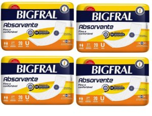 Absorvente Fino e Confortável-BigFral- 80 unidades
