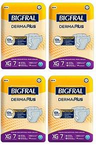 Fralda Geriatrica BigFral DERMA Plus XG-28 unidades