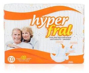 Fralda Geriatrica Hyperfral- EG 46 unidades