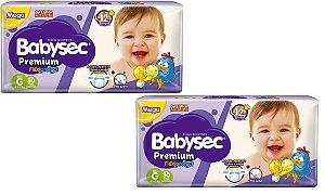 Fralda Babysec Premium Noturna G 60 unidades