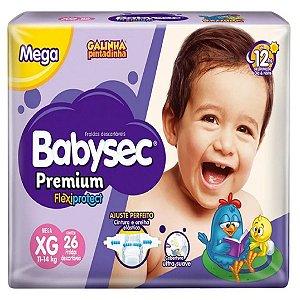 Fralda Babysec Premium Noturna XG 26 unidades