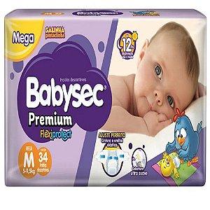 Fralda Babysec Premium Noturna M 34 unidades
