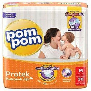 Fralda Infantil Pom Pom Protek M 30 unidades