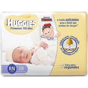 Fralda Infantil Huggies - RN - 18 unidades