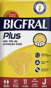 Fralda Geriatrica BigFral Plus Juvenil-11 unidades