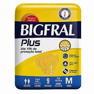 Fralda Geriatrica BigFral Plus M-9 unidades