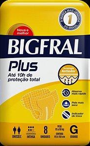 Fralda Geriatrica BigFral Plus G 8 unidades