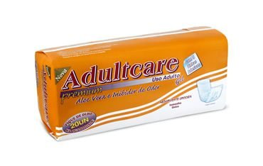 Absorvente Adulto Adultcare Premium C/Fita Adesiva-20 unid