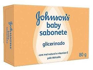 Sabonete JOHNSON'S® Baby  Glicerinado com Mel Natural e Vitamina E - 80G.