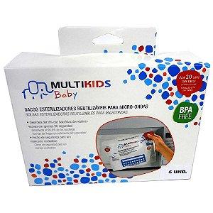 Sacos esterilizador reutilizáveis Multikids c/6 unid