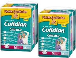 Fralda Geriatrica Cotidian Classica M 72 unid