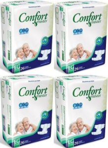 Fralda Geriatrica Confort Master EG 104 unidades
