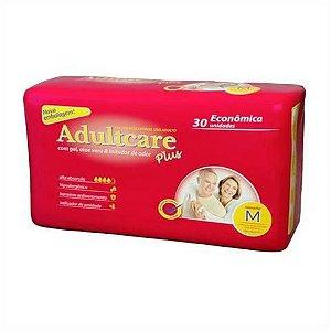 Fralda Geriatrica Adultcare Plus - M - 30 unidades