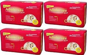 Fralda Geriatrica Adultcare Plus - M - 120 unidades