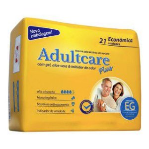Fralda Geriatrica Adultcare Plus - XG - 21 unidades