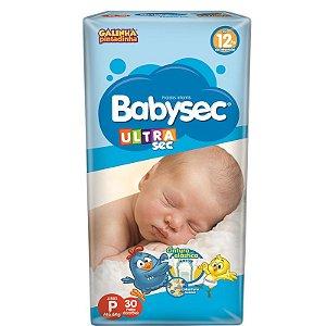 Fralda Infantil BabySec Ultrasec Jumbo - P - 30 unidades