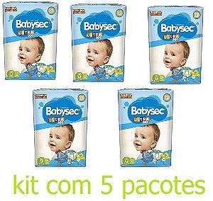 Fralda Infantil BabySec Ultra Kit - Tam G - 120 unidades