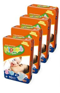 Fralda Infantil Hipopo Mega P Kit C/360