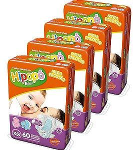 Fralda Infantil Hipopo Mega XG Kit C/240