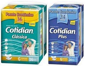 Fralda Geriatrica Cotidian Classica36+plus24 Tam G - 60unid