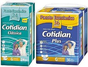 Fralda Geriatrica Cotidian Classic24 + plus36 Tam G 60unid
