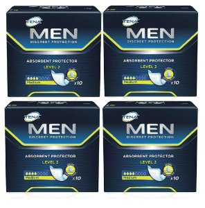 Absorvente Masculino Tena Men Level 2 Kit C/40 Unidades