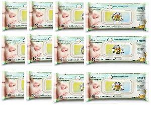 Toalhas Umedecidas Feelclean Recém-Nascido kit c/12x50=600un