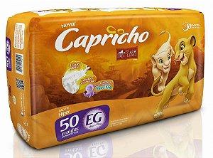Fralda Infantil Capricho Rei Leão - EG - 50 unid