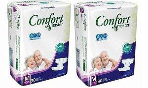 Fralda Geriatrica Confort Master M 60 unidades