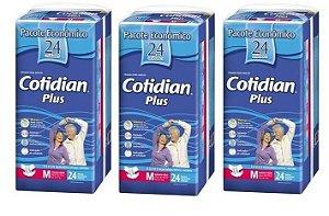 Fralda Geriatrica Cotidian Plus M 72Unidades