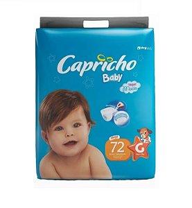 Fraldas Descartáveis-Capricho Baby- G 72 Unidades