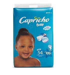 Fraldas Descartáveis-Capricho Baby-XXG 54 Unidades