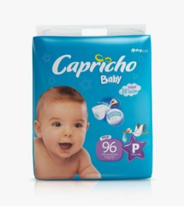 Fraldas Descartáveis-Capricho Baby- P 96 Unidades