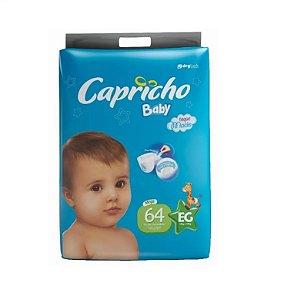 Fraldas Descartáveis-Capricho Baby-EG 64 unidades