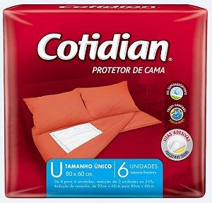 Protetor De Cama Cotidian-tamanho Unico- 80x60cm-6 Unidades