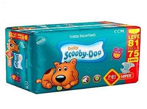 Fraldas Descartáveis Infantil Scooby-Doo-P- 81 unidades