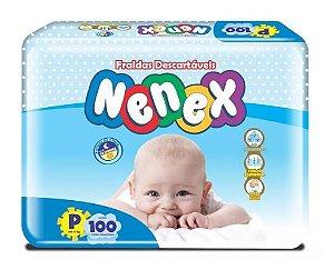 Fraldas Descartáveis-Infantil Nenex DIA/NOITE-P 100 unidades