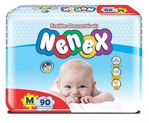 Fraldas Descartáveis-Infantil Nenex DIA/NOITE-M 90 unidades
