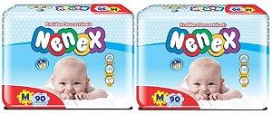 Fraldas Descartáveis-Infantil Nenex DIA/NOITE-M 180 unidades