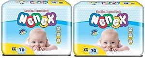 Fraldas Descartáveis-Infantil Nenex DIA/NOITE XG 140 unid